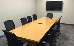 Conference room furniture installer